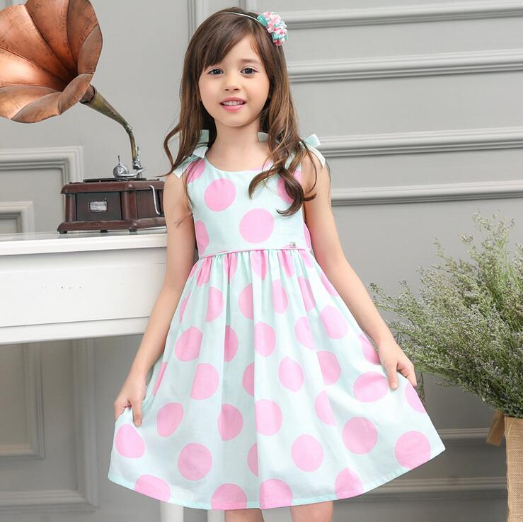 Candydoll Girls Dresses Summer Dress Blue Dot Princess