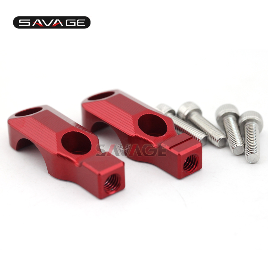 For Brembo Brake Clutch Master Cylinder Clamp Cover Mirror adapter M8 X 1 25 Clockwise Anticlockwise Red Black in Covers Ornamental Mouldings from Automobiles Motorcycles