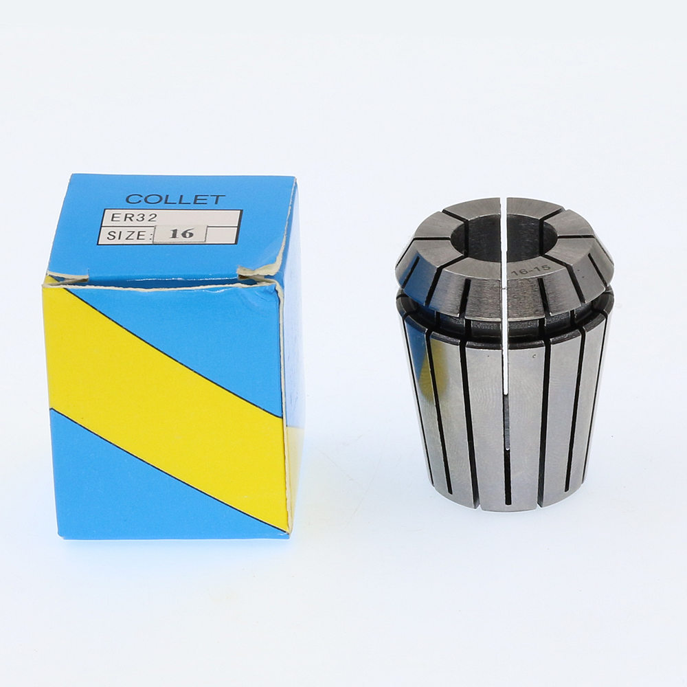 ER32-16 . ER Collet. Collet. Material: 65 Mn Spring Steel. Accuracy: 0.015mm. Clamping Range: 15-16mm. Specifications: ER32-16