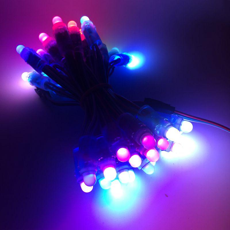 5000pcs 12mm WS2811 2811 IC Full Color Pixel LED Module Light DC 5V input IP68 waterproof RGB color Digital LED Pixel Light