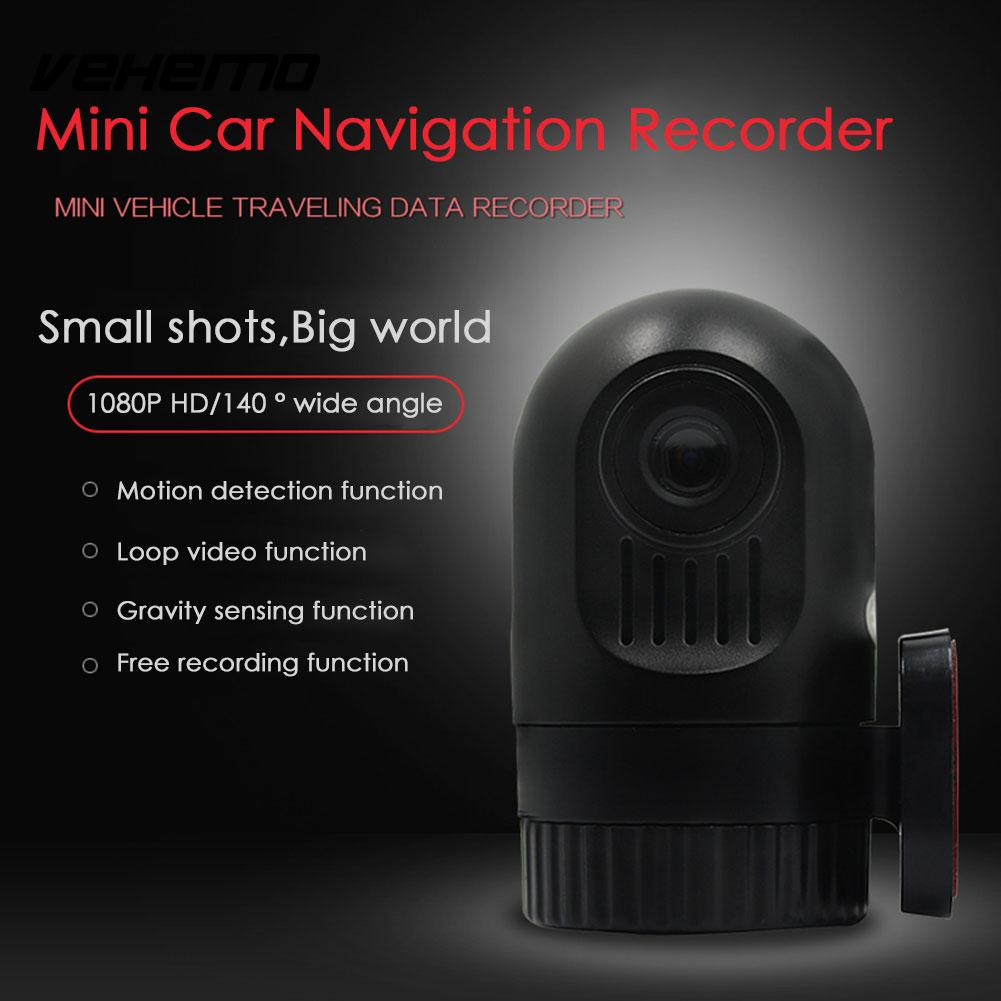 Vehemo 1080P Driving Recorder Car DVR Parking Dash Cam Premium Quality Car Camera G-Sensor Video Recorder