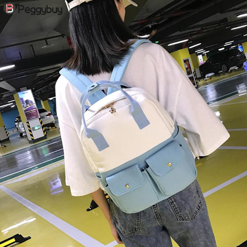 6bd37dac96 Pour Dos Multifonction yellow Portable Coréen Filles pink army Femme À Blue  Ordinateur Mode Style Adolescent Jeunes Green Sac grey D'école Épaule  Axwg4wt