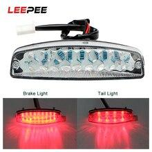 LEEPEE светодиодные задние фонари мотоциклетное освещение мотоциклетные стоп-сигналы индикаторная лампа для ATV Quad Kart Универсальный Кафе Racer красный