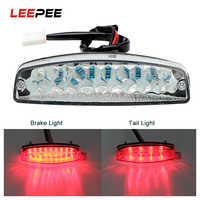 LEEPEE LED Hinten Lichter Motorrad Beleuchtung MotoTail Bremse Licht Anzeige Lampe Für ATV Quad Kart Universal Cafe Racer Rot