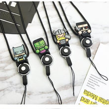 Cartoon Multi-function Mobile Phone Straps Rope for iPhone Samsung MP4 ID Card Key Ring Holder Mobile Phone Lanyard strap(China)