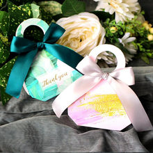 AVEBIEN Creative Marble Flower Portable Candy Box Sweet Love Wedding Decoration Wedding favor and Gift Chocolate Paper Candy Box(China)