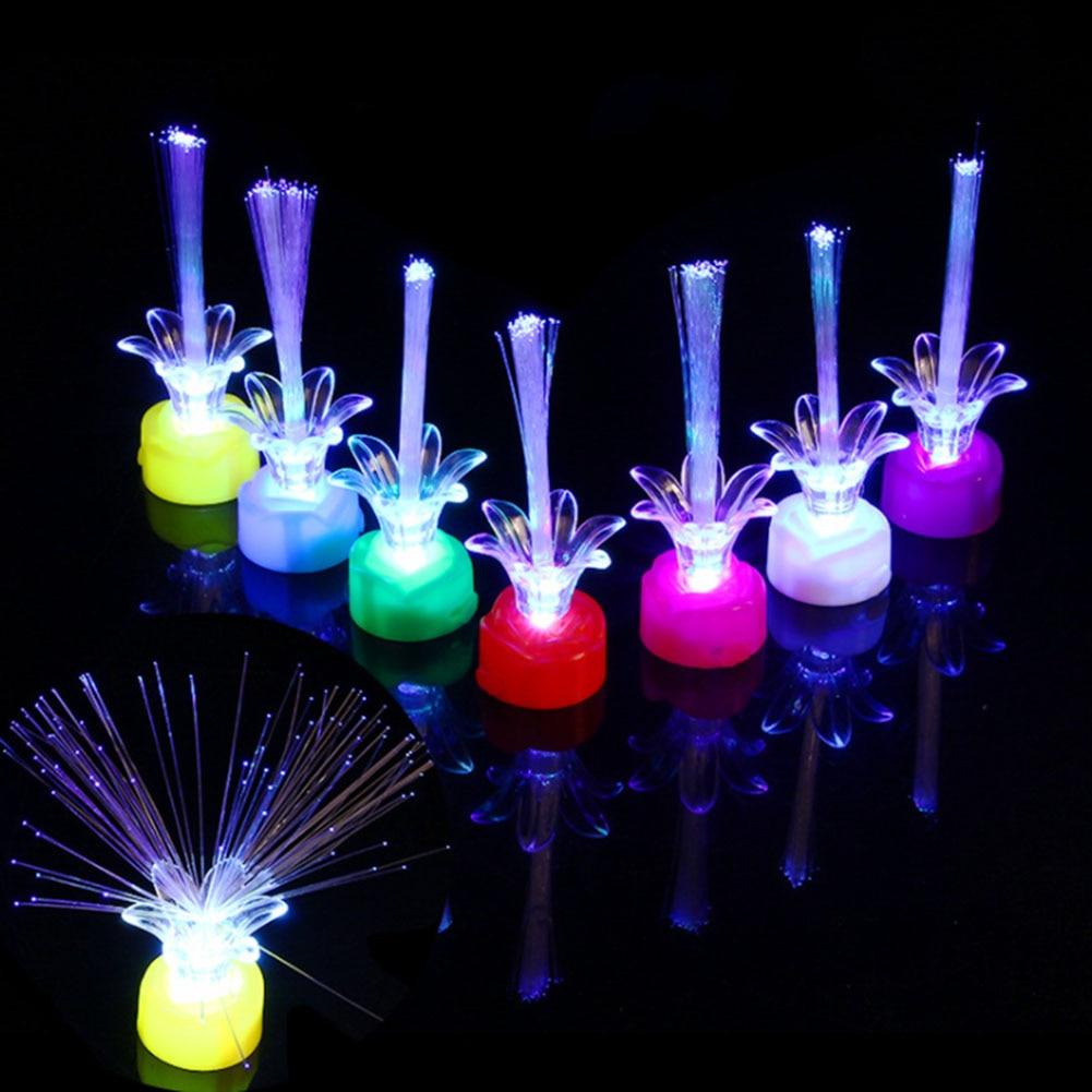 New Light Up Bright Colorful Change Led Flashing Fiber Optic Lights Kids Night Toys Gift