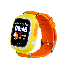 Q90 infantil moda smart watch GPS posicionamento SOS smart watch phone 1.22 polegada cor da tela de toque