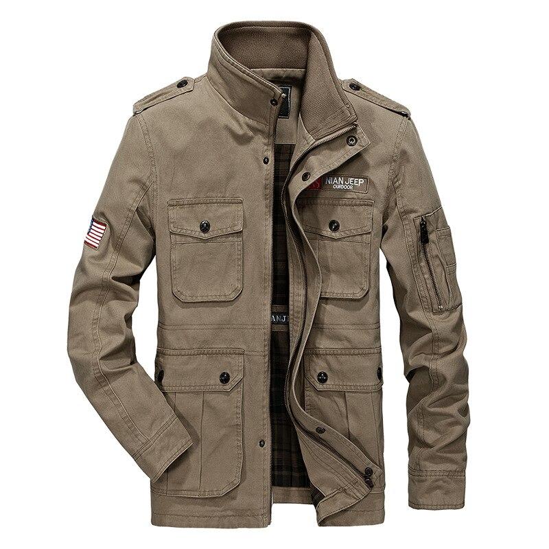 Marque See Coton Jaqueta Militar Printemps Le Col Manteau Gros Veste Masculino Mètres 2018 Est Vêtements kaki Casual bleu De Chart Hommes En p6OU5wq