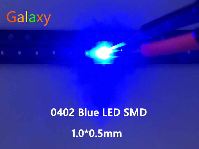 500PCS SMD SMT 0603 Super bright BLUE LED lamp Bulb