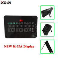 Black White Color 433.92mhz Wireless Display Host Receiver Touch Screen Show 32 Calling Number For Restaurant Equipment K 32A|time|time display|  -