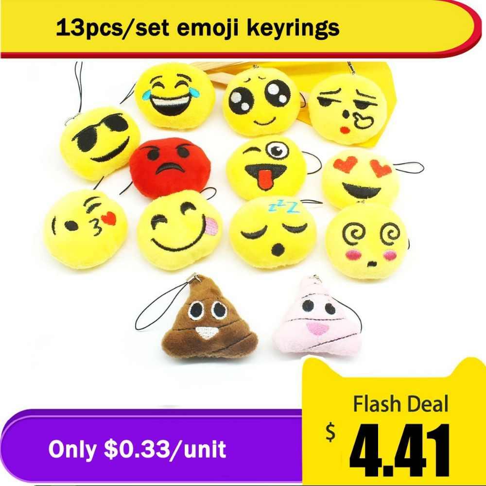 Zoeber Emoji Smiley Bonito Titular Da Corrente Chave Chaveiro Chaveiro Emoticon Divertido Brinquedo Macio Presente para As Mulheres Homens Bolsa Pingente Acessório