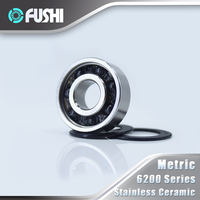 Bearings 6200 6201 6202 1 PC 440C Stainless Steel Rings With Si3N4 Ceramic Balls Bearing S6200