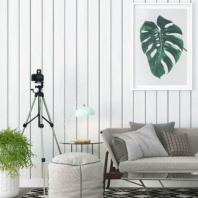 Moderne de Haute qualité Gris Bois Motif Papier Peint Nordique Salon TV Fond en Bois de Papier Peint Papel De Parede