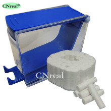 1 pc Dental Cotton Roll Dispenser & 50 pcs Press-type Blue