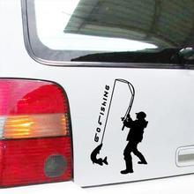 9*15cm Car Styling Car Sticker Door Window Vinyl Decal Fishing Fashio Vinyl Decor Decals Car Accessories стоимость