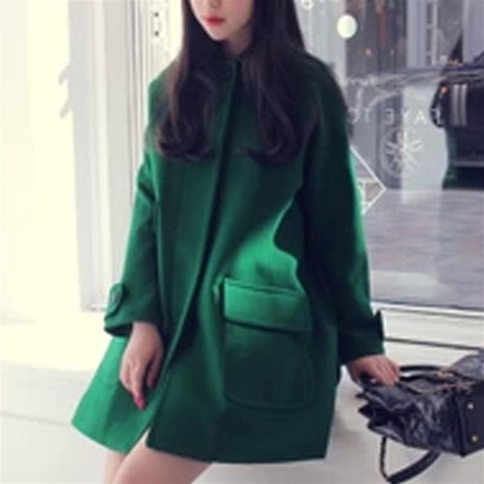 Green Cashmere Coat Promotion-Shop for Promotional Green Cashmere ...