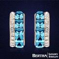 Moda Studs brincos para meninas mulheres com Swarovski Elements cristal austríaco charme casamento jóias festa de alta qualidade
