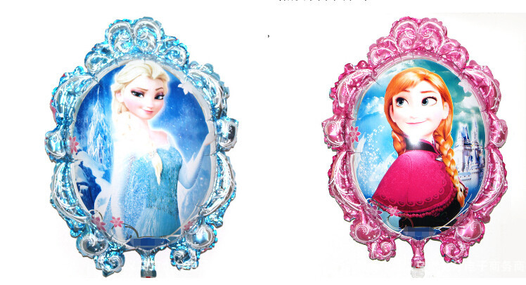 10pc Best Quality Anna Elsa foil balloon Kids happy birthday balloon party decor
