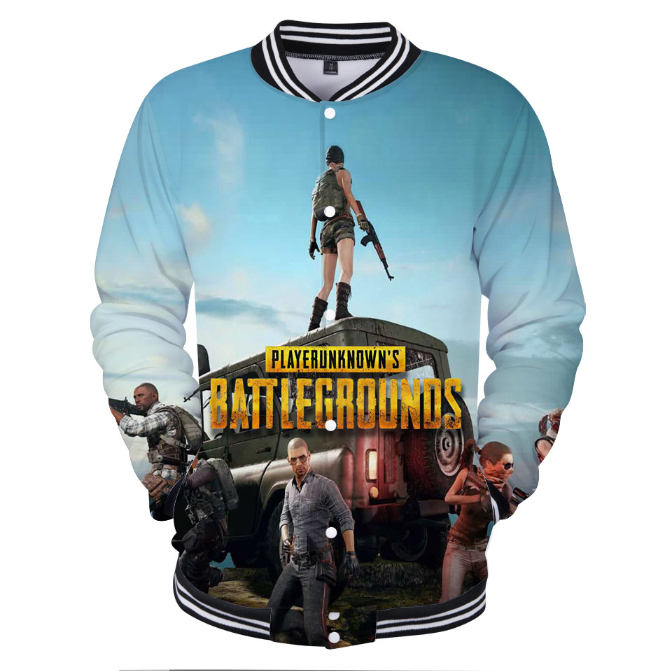 New Game PUBG 3D Baseball Jacket Men/Women Fashion XXS To 4XL Baseball Jacket Casual Cool And Fashion Style Clothes