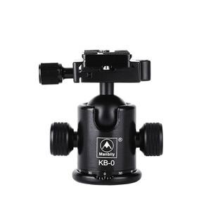 Image 2 - Штатив Manbily для камеры с шаровой головкой, алюминиевый шаровой головкой с панорамной головкой, раздвижная рельсовая головка с 2 встроенными уровнями духов для DSLR съемки