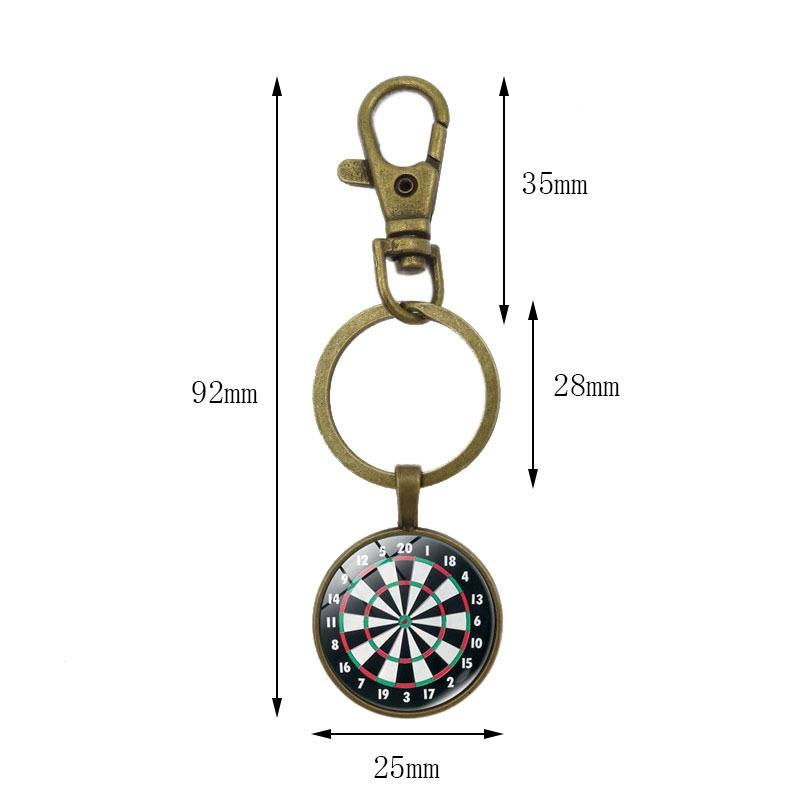 DreamBell Portable Creative Fashion Darts Target Design Key Chain Retro Metal Key Ring Pendant zk35