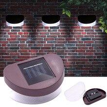 Spot Hot sale 2pcs/lot solar light 2LED lawn fence lamp roof corridor decoration outdoor wall
