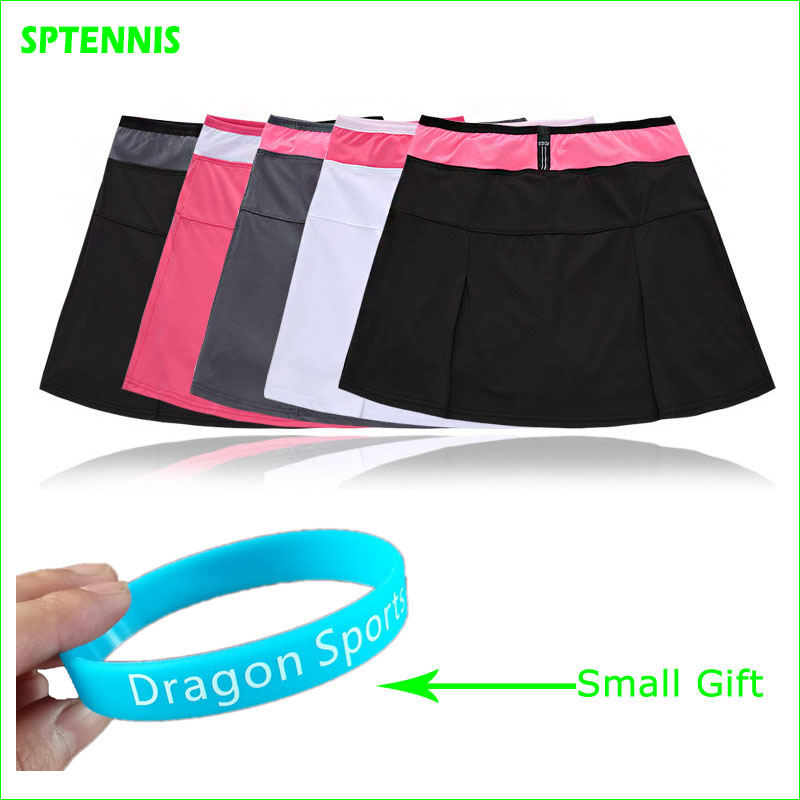 2018 New Good Quality Polyester Tennis Skirts Quick Dry Sports Skorts Five Colors