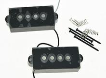 Black 4 String Precision Bass Vintage Sound Pickup Alnico 5 P Bass Pickups Set