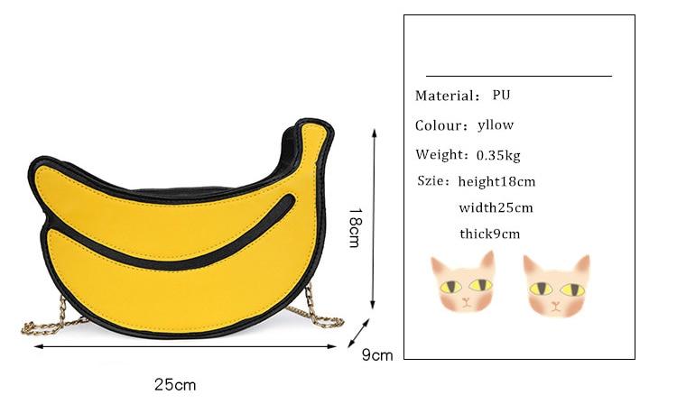 Compre Nueva Forma De Plátano Bolsa De Cadena Para Las Mujeres Personalidad Bandolera 2018 Trend Mini Bolsos Mujer Hombro Casual Monedero A $21.62 Del