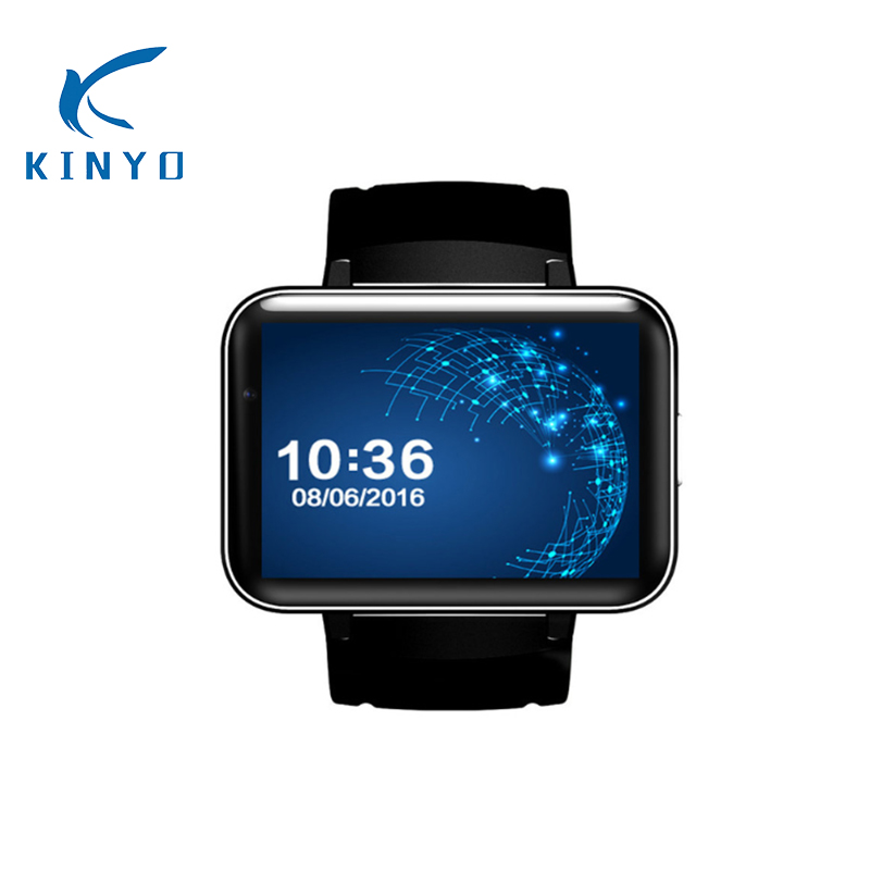 KINYO new 3G Smart Watch Android 320*240 MTK6572 900mAh Big Screen wristwatch with WIFI GPS Smartwatch men support nano SIM card dm98 gps 3g smart watch android with sim card pedometer sports tracker smartwatch phone 900mah wifi bt4 0 wristwatch men rsmtte