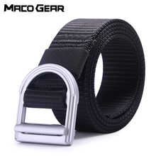 купить Metal Buckle Nylon Tactical Belt Military Waist Support Sports Outdoor Waist Hunting Training Camping Combat Army Waistband Men дешево
