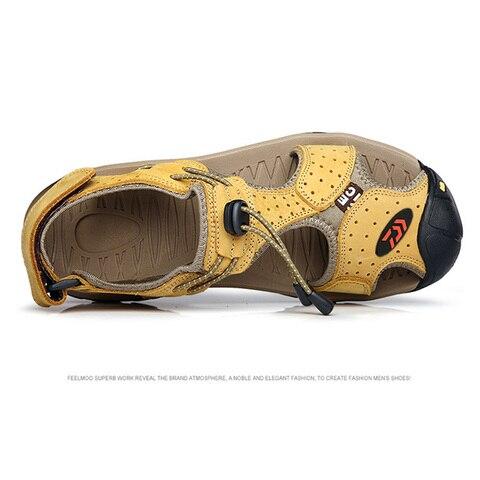 escalada ao ar livre caminhadas sandalias sandalias sandalias de couro respiravel