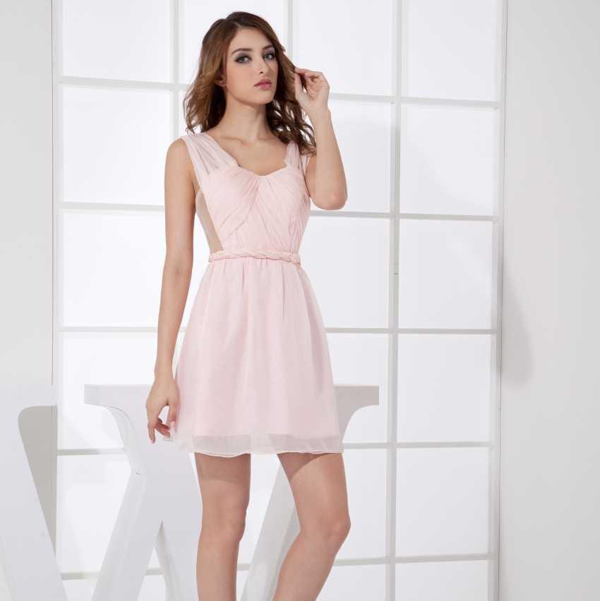 Vestidos Caliente Chifon Sexy Cortos Mini Mujeres Pd99