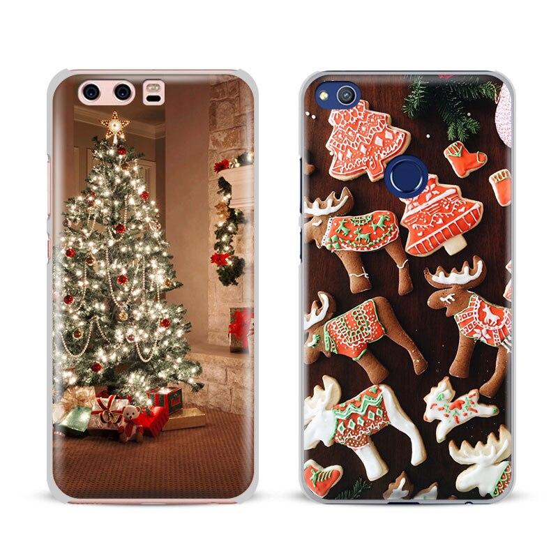 Christmas Xmas Santa Tree For Huawei Ascend P8 P9 Lite P10 Plus Honor 6X 7I 8 V8 V9 V10 Mate 7 8 9 Nova 2 Phone Case Shell