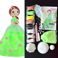 Slime Clay Doll Set DIY Western Princess Puzzle With Clay And Dress Handwork Birthday Gift For Children DOLLRYGA Kit Slime Clay