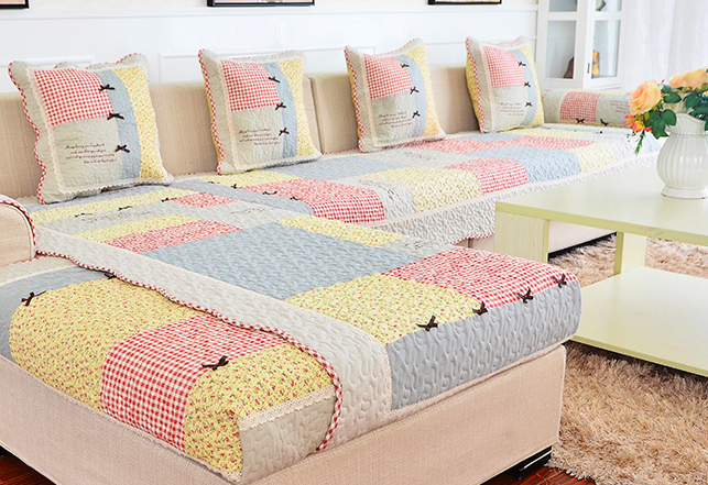 hot sale sofa covers slip resistant sofa towel sofa slipcover gray bownot pattern covers for. Black Bedroom Furniture Sets. Home Design Ideas