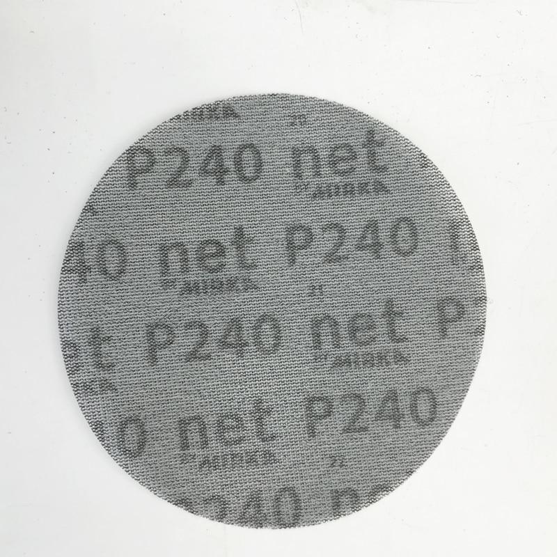 New 10pcs 6Inch/150mm Self-adhered Autonet Sandpaper Abrasive Paper For Pneumatic Grinding Machine Car Repair