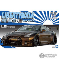 OHS Aoshima 05591 1/24 R35 GT R type 2 Ver.1 Assembly Scale Car Model Building Kits