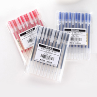 10pcs MUJI Gel Pen 0.5mm 0.38mm Black/Blue/Red Ink Color Pens Kwaii Pens School Supplies Stationery Gel Ink Pens Caneta Muji|Gel Pens| |  -