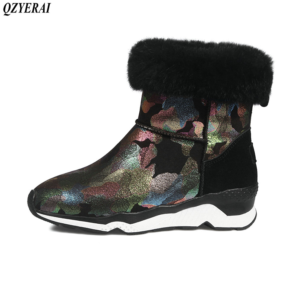 2018 Autumn/winter new products real leather snow boots cowskin ankle boots and boots  Snow boots size 34-42 2018 autumn