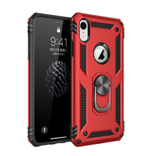 For Apple iPhone Xr/ X/xs Case Dual Layer Military Armor Magnetic Ring Stand Slim Shockproof Hard Cover for