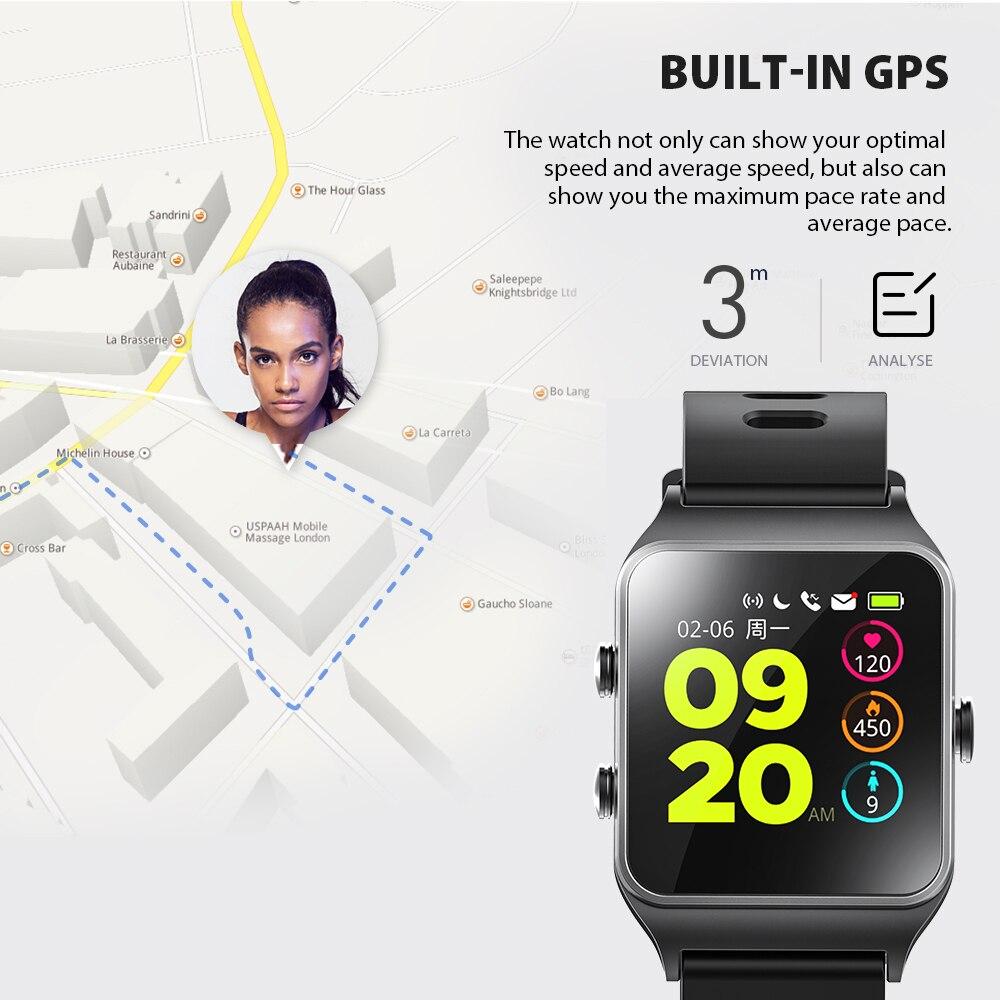 ¡RU/DE/ES en stock! Strava Makibes BR3 hombres GPS relojes inteligentes SmartBand IP68 impermeable rastreador de ejercicios para Xiaomi teléfono MI8 IOS - 4