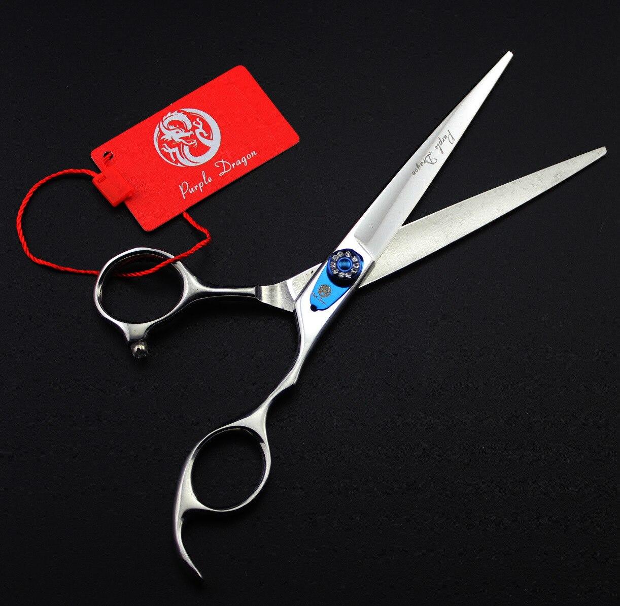 цена на 7 inch Purple Dragon JP440C Dog Grooming Scissors /Shear with bag