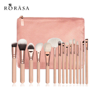 15Pcs Rose Gold Makeup Brushes Set Eyeshadow Eyeliner Blush Blending Contour Foundation Cosmetic Beauty Make Up
