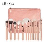 15Pcs Rose Gold Makeup Brushes Set Eyeshadow Eyeliner Blush Blending Contour Foundation Cosmetic Beauty Make Up