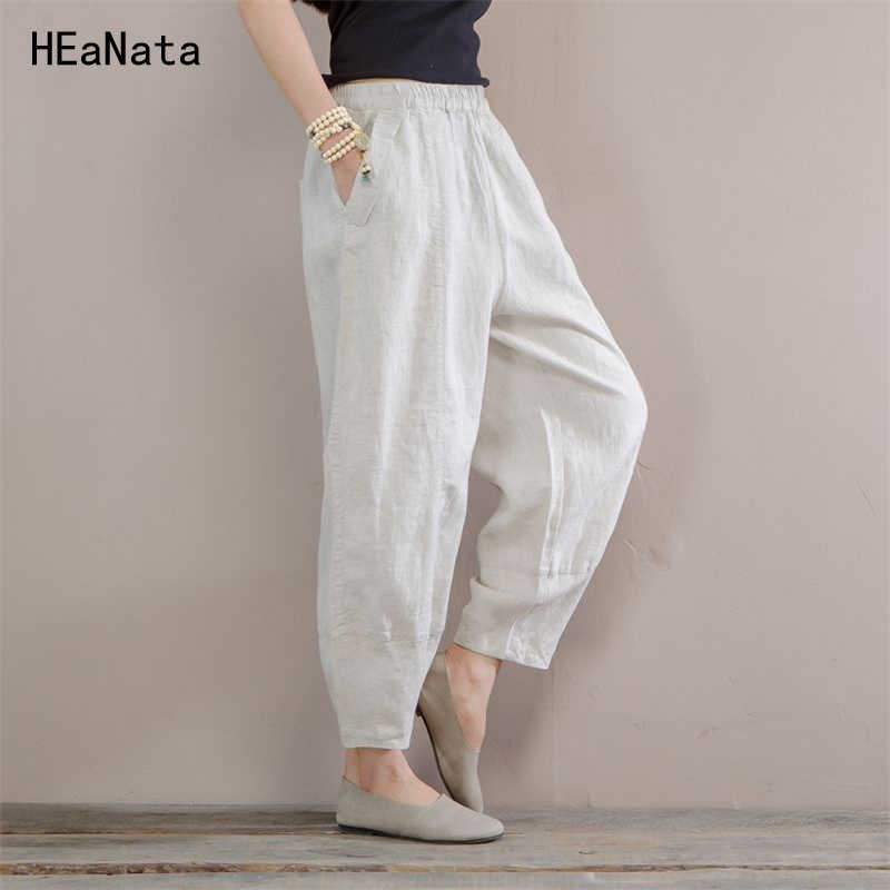 great deals special sales release date Fashion New Women Summer Thin Linen Pants Elastic Waist ...