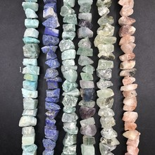 6 Stone Choice,Raw Nugget Chips Beads,42-52pcs/strand Irregular Rough Amazonite Lapis Aventurine Fluorite Quartz Pendant Jewelry