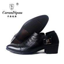 new 2016 classic 100% genuine leather shoes men's pointed toe dress shoes formal luxury brand dress shoes wedding black