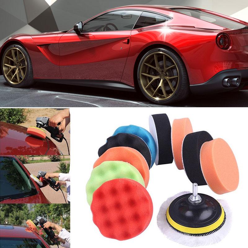 Vehemo 12 шт./компл. Губка для полировки автомобиля полировки комплект для ваксации полирующая пена для авто комплект колес шлифовальный прибор буфер